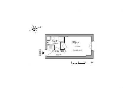 Vue n°3 Appartement 1 pièce à louer - LE HAVRE (76600) - 18.4 m²