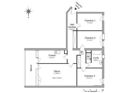 Vue n°2 Appartement 4 pièces à louer - GARDANNE (13120) - 87.11 m²