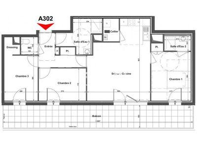 Vue n°2 Appartement 4 pièces à vendre - LA ROCHE SUR YON (85000) - 82.06 m²