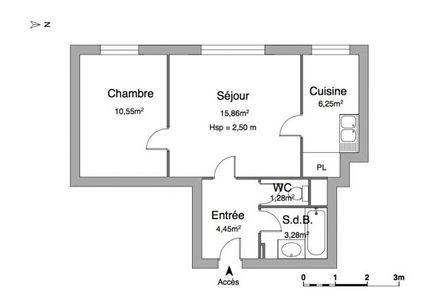 Vue n°2 Appartement 2 pièces à louer - ST OUEN L'AUMONE (95310) - 41.67 m²