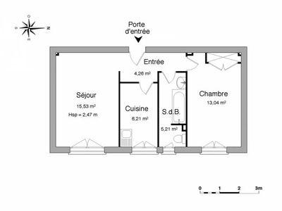 Vue n°3 Appartement 2 pièces à louer - PORT DE BOUC (13110) - 44.25 m²