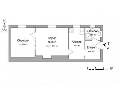 Vue n°2 Appartement 2 pièces à vendre - VERSAILLES (78000) - 40.85 m²