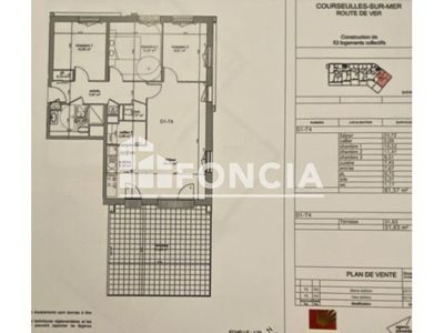 Vue n°3 Appartement 4 pièces à vendre - COURSEULLES SUR MER (14470) - 87.58 m²