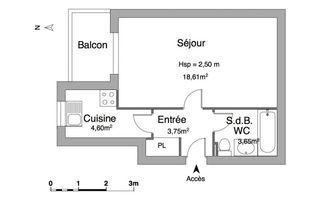 appartement-meuble 1 pièce à louer NICE 06100 30.61 m²