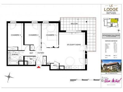 Vue n°2 Appartement 4 pièces à vendre - PERRIGNIER (74550) - 86.62 m²