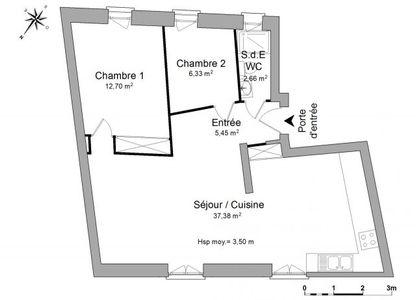 Vue n°3 Appartement 3 pièces à louer - UZES (30700) - 64.52 m²
