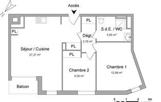 appartement 3 pièces à louer ROUEN 76100 59.34 m²