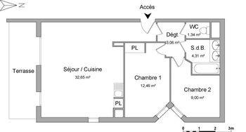 appartement 3 pièces à louer MARSEILLE 13ème 13013 62.82 m²